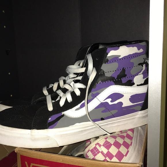 Vans Shoes | Vans Purple Camo Highs